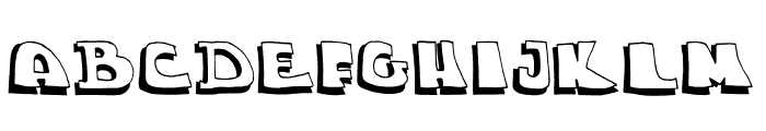 chuck-shadow Font UPPERCASE