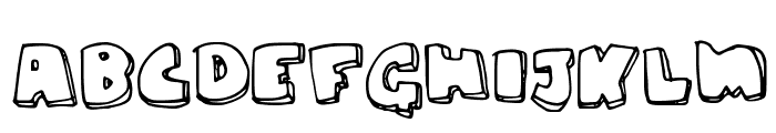 chunky Font UPPERCASE