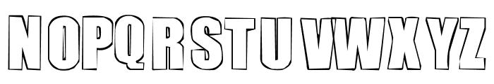 chutzpah Font UPPERCASE