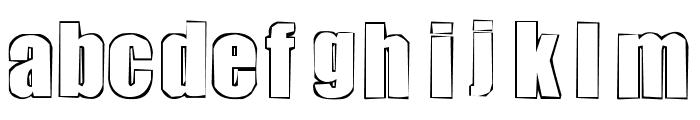 chutzpah Font LOWERCASE
