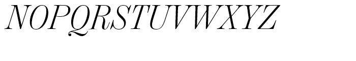 Chamber Headline Light Italic Font UPPERCASE