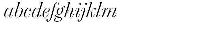 Chamber Headline Light Italic Font LOWERCASE
