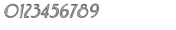 Charbonne Inline Oblique Font OTHER CHARS