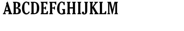 Cheltenham Bold Condensed Font UPPERCASE
