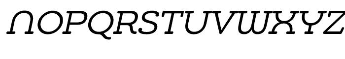 Chennai Slab Oblique Font UPPERCASE