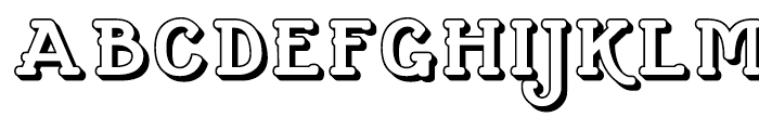 Cherritt Openface Regular Font UPPERCASE