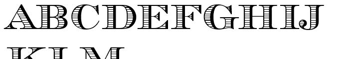 Chevalier Stripes DisCaps Standard D Font UPPERCASE