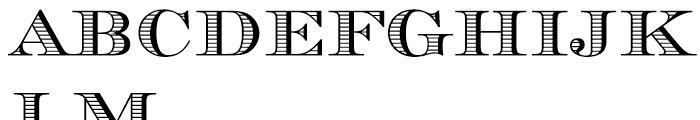 Chevalier Stripes Font UPPERCASE