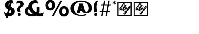 Chipping Regular Font OTHER CHARS
