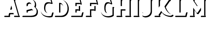 Chipping White Font UPPERCASE