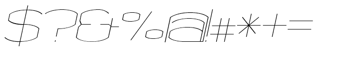 Chord Fine Italic Font OTHER CHARS