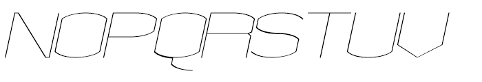 Chord Fine Italic Font UPPERCASE