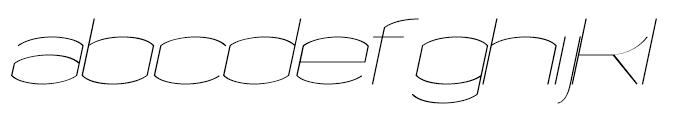 Chord Fine Italic Font LOWERCASE