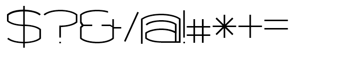Chord Regular Font OTHER CHARS