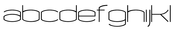 Chord Regular Font LOWERCASE