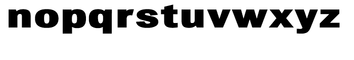Chubbt Distended Black Font LOWERCASE
