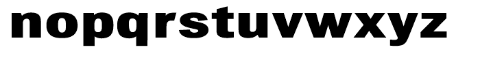 Chubbt Distended Bold Font LOWERCASE