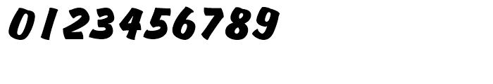 Churchward Brush Regular Italic D Font OTHER CHARS