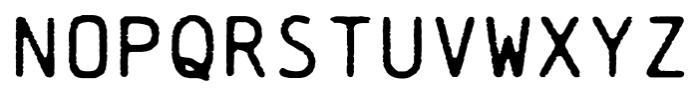Chainprinter Regular Font LOWERCASE