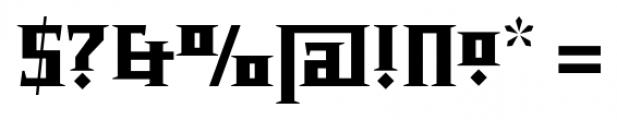Chalice Black Regular Font OTHER CHARS
