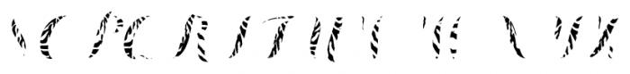 Chameleon Fill Skin1 Font UPPERCASE