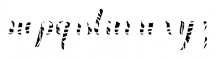 Chameleon Fill Skin1 Font LOWERCASE