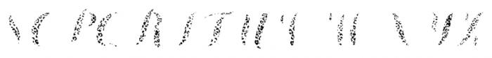 Chameleon Fill Skin2 Font UPPERCASE