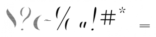Chameleon Fill Stripe1 Font OTHER CHARS