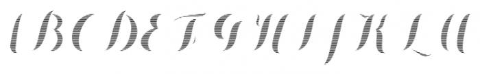 Chameleon Fill Stripe1 Font UPPERCASE