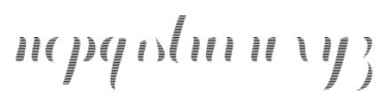 Chameleon Fill Stripe1 Font LOWERCASE
