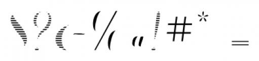 Chameleon Fill Stripe2 Font OTHER CHARS