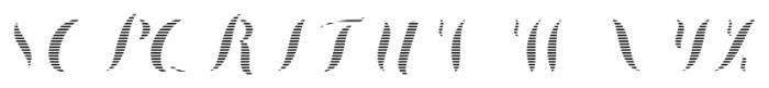 Chameleon Fill Stripe2 Font UPPERCASE