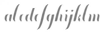 Chameleon Fill Stripe2 Font LOWERCASE