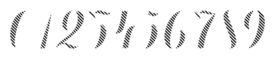 Chameleon Fill Stripe3 Font OTHER CHARS