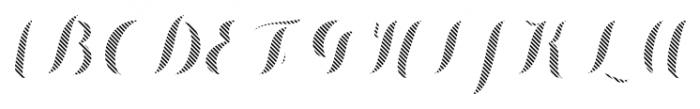 Chameleon Fill Stripe3 Font UPPERCASE