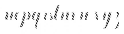Chameleon Fill Stripe3 Font LOWERCASE