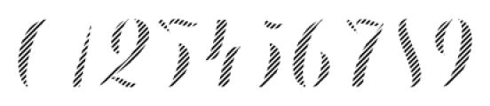 Chameleon Fill Stripe4 Font OTHER CHARS
