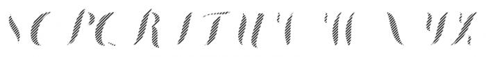 Chameleon Fill Stripe4 Font UPPERCASE