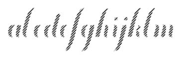 Chameleon Fill Stripe4 Font LOWERCASE
