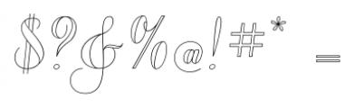 Chameleon Outline1 Font OTHER CHARS