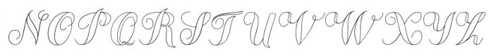Chameleon Outline1 Font UPPERCASE