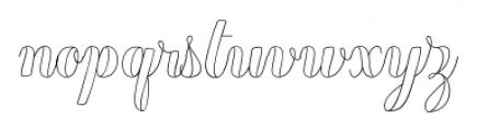 Chameleon Outline1 Font LOWERCASE