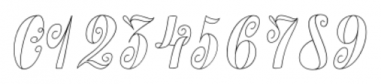 Chameleon Outline2 Font OTHER CHARS