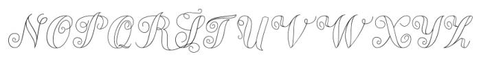 Chameleon Outline2 Font UPPERCASE