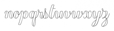Chameleon Outline2 Font LOWERCASE