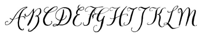 Chameleon Pen Italic Font UPPERCASE
