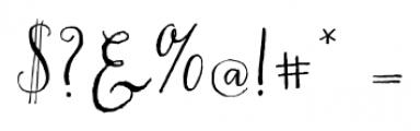 Chameleon Pen Regular Font OTHER CHARS
