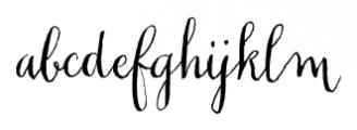 Chameleon Pen Regular Font LOWERCASE