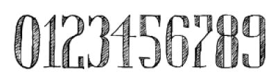 Chameleon Sketch Hatch Font OTHER CHARS