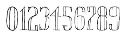 Chameleon Sketch Outline Font OTHER CHARS